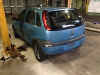 Vauxhall Corsa c BREAKING spares for repair 1.7 dti