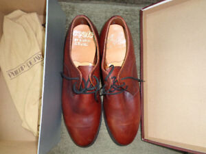 For trade:  NOS 8.5E Derby Tobacco Leather Steel Toe Dress Shoes