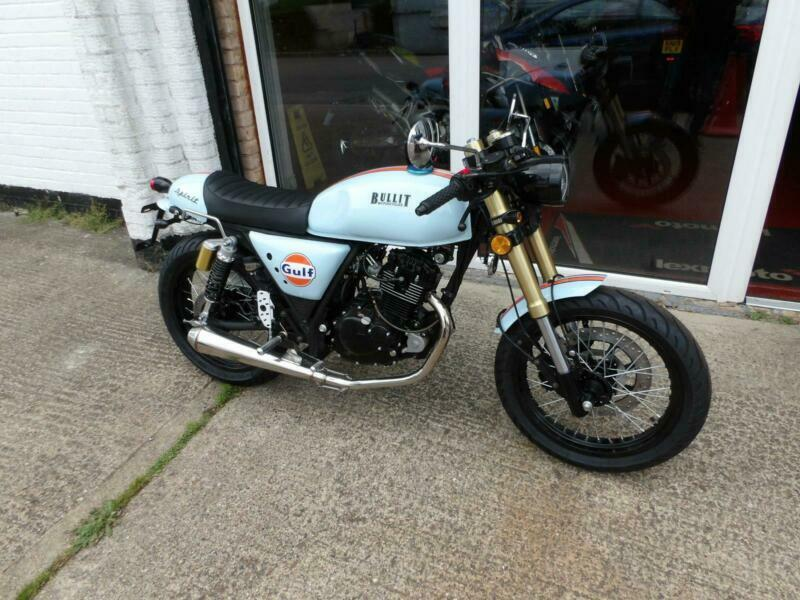 Bullit Motorcycles spirit 125 cafe racer GULF Limited edition | in  Wolverton, Buckinghamshire | Gumtree