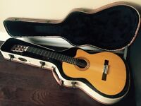 cutaway classical electric-acoustic guitar
