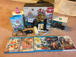 WiiU32G+8games+WiiUProController+2 RechargeableRemoteController