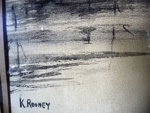 "Original Northern Landscape Watercolor by K.Rooney  ""Shoreline"" Stratford Kitchener Area image 5"