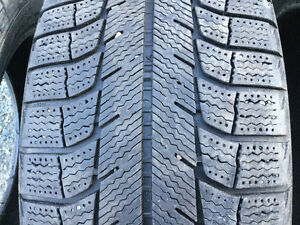Four 225 60 17 MICHELIN X-ICE directional tires
