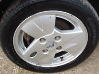 """Ford Ka 14"""" Alloy with good condition tyres, 165/60 R14"""