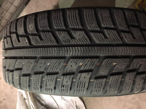 Kumho Izen KW22 (195/55/R16) Winter tires with rims!