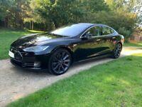 Black Tesla, MODEL S85 Hatchback, 2014