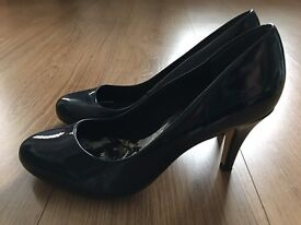 Ladies Next Navy Heeled shoes size 6 wide fit