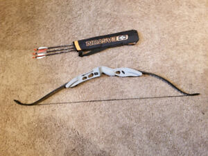 Easton Beginner/Practice Bow with Arrows and Quiver