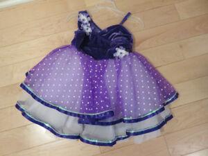 Weissman Purple Velour/Tulle Dance Costume