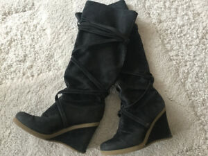 Fashion wedge boots