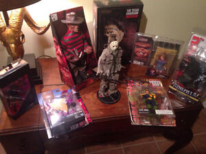 Sideshow toys LEATHERFACE, Chucky, Godzilla, judge dredd, more