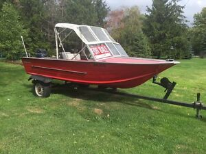 16ft Starcraft aluminum boat and trailor