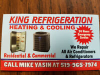 Refrigeration, Heating&Cooling Repair 24 hours emergency service