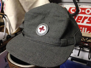 VINTAGE CANADIAN RED CROSS CORPS HAT CAP - PARKER PICKERS -