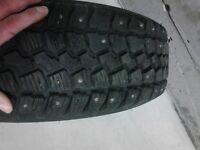 Brand new Studed Winter tires with steel rims