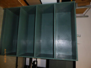 Green wooden shelf