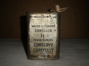 1943 Wartime Water Container - Never Opened London Ontario image 1