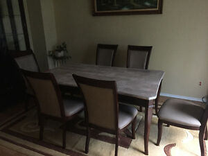 Immaculate marble dinning set for sale