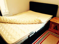 Double bed and mattress and foam topper
