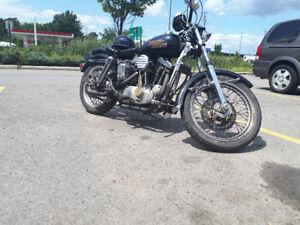 Vintage 1972 Harley Davidson sportster 1000 xlh