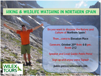 Hiking and Wildlife watching in Spain, 20th Oct at EP