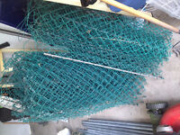 4ft tall Green Galvanized Chain Link Fence 100+ linear ft 2 door