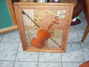 As Is Antique Violin and Bow wall display. -ready to display