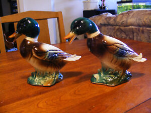 2 Vintage Porcelain Ducks