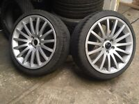 Audi A3 a4 18 inch alloys will fit others vw golf mk5 Vw transporter with good tyres 5-6ml tread