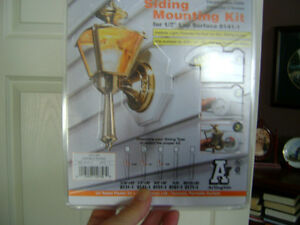Siding Mounting Kit for outdoor light fixtures
