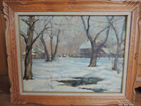 Listed Canadian artist Johnstone oil painting