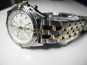 Breitling Chronomat Steel/Gold w/white dial - 100% Authentic West Island Greater Montréal image 1
