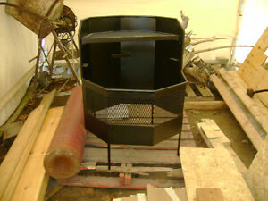 Fire pit and firewood holder