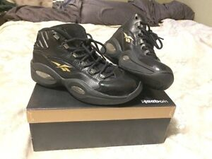 """Reebok Iverson Question """"champagne"""" mid"""