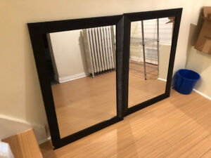 Large wall mirrors (set of 2)