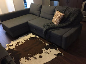 Corner sofa - bed, Skiftebo dark gray (from IKEA)