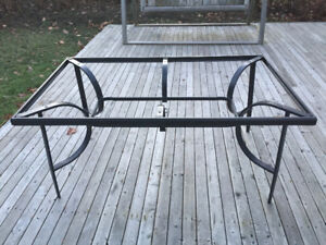 Outdoor table frame