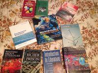 Bag of old nursing textbooks.