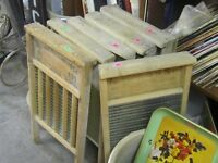 LARGE ASSORTMENT OF OLD WOOD & GLASS WASHBOARDS $20 EA.