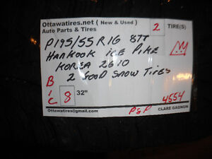P195/55R16 87T HANKOOK ICE PIKE ASK ABOUT #4554 B1C
