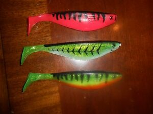 New 6 inch sassy shad fishing lures