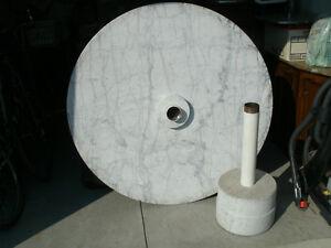 Round Solid Marble Pedestal Kitchen Table Oakville / Halton Region Toronto (GTA) image 4