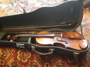 Vintage violin with case