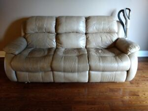 Leather Reclining  - FREE