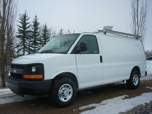 2012 Chevrolet Express G2500 Cargo Van,SHELVING/ROOF RACK, LOW K