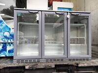 Husky 3 door bar fridge