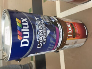 Newly purchased Dulux paint chocolate brown, for exterior wood