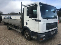 2008 MAN/ ERF TGL7,180 DROPSIDE LORRY 7.5 TONN 21 FT LONG