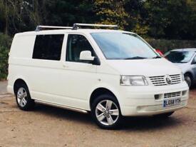 2008 VW Transporter 2.5TDi PD ( 130PS ) SWB T28 Combi Window Van FSH SUPERB!!!!!