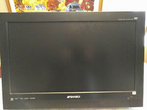 "Sansui 26"" TV/DVD combo with articulate wall mount"